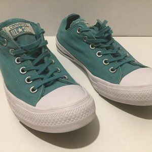Aqua Blue Converse All-Star Low Tops